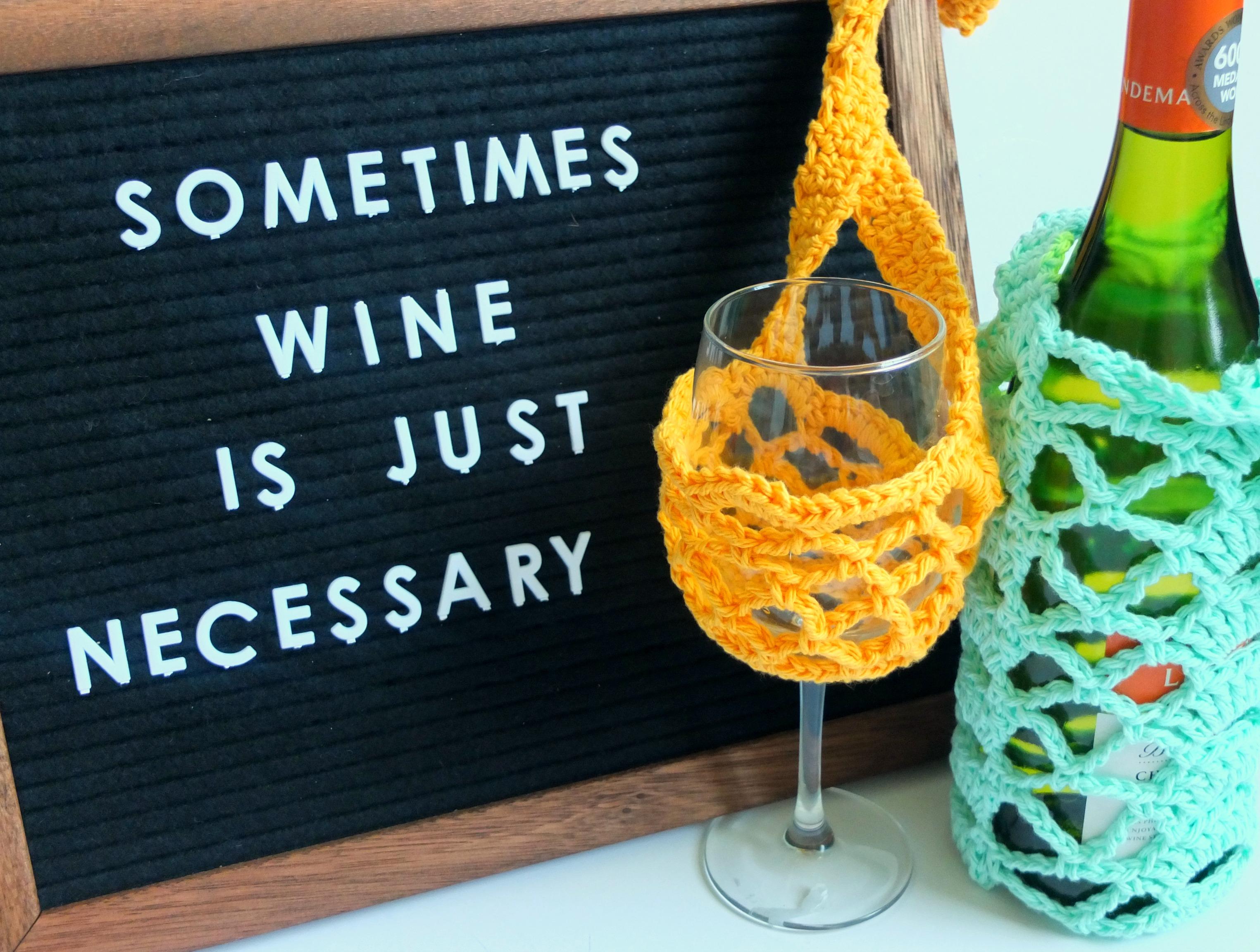 For the Love of Wine Bottle Cozy - Sigoni Macaroni