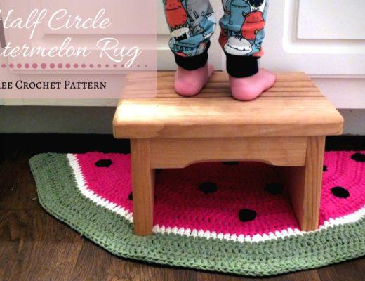 half circle watermelon rug