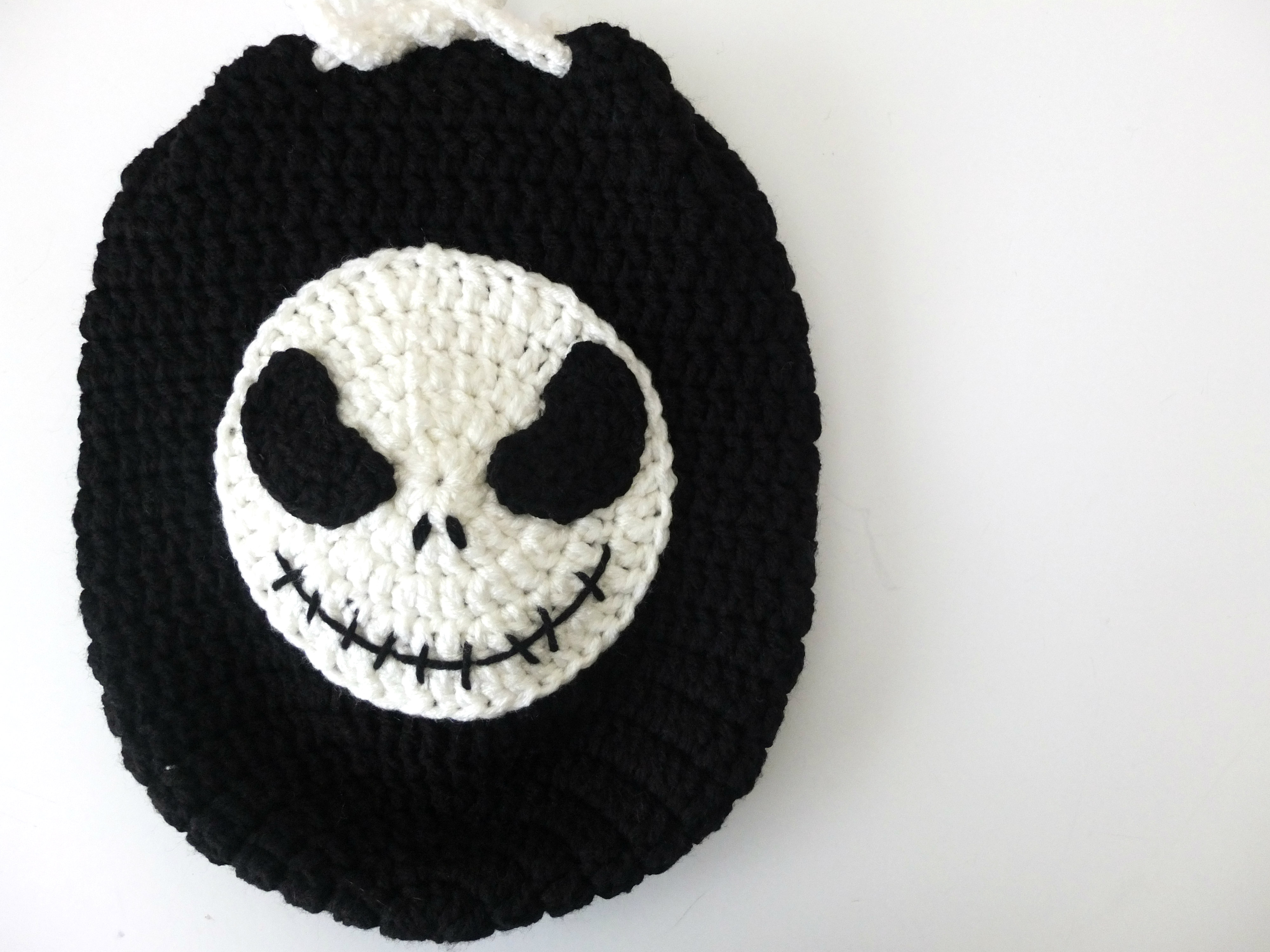 Crochet Jack Skellington Drawstring Backpack - 132a1360b8c