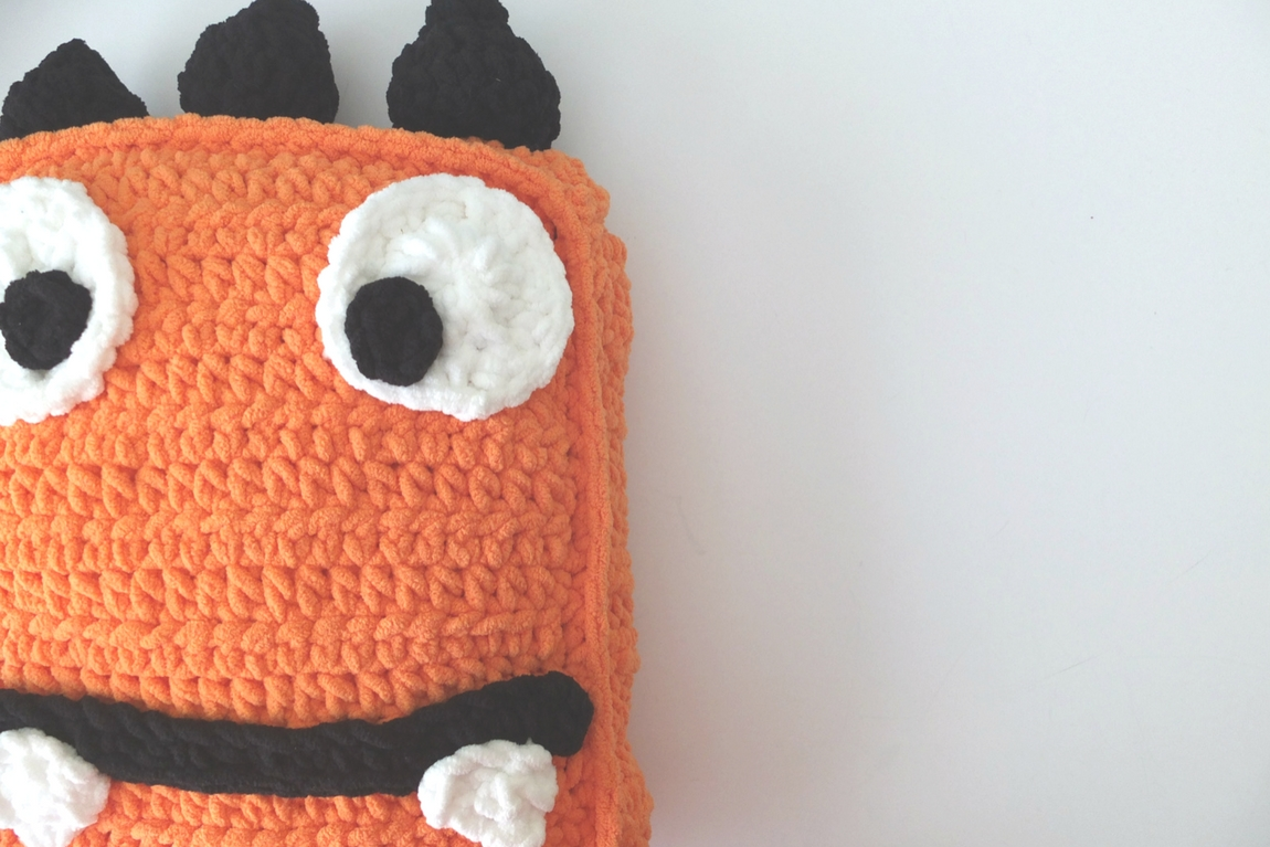 Marty the Crochet Monster Pillow