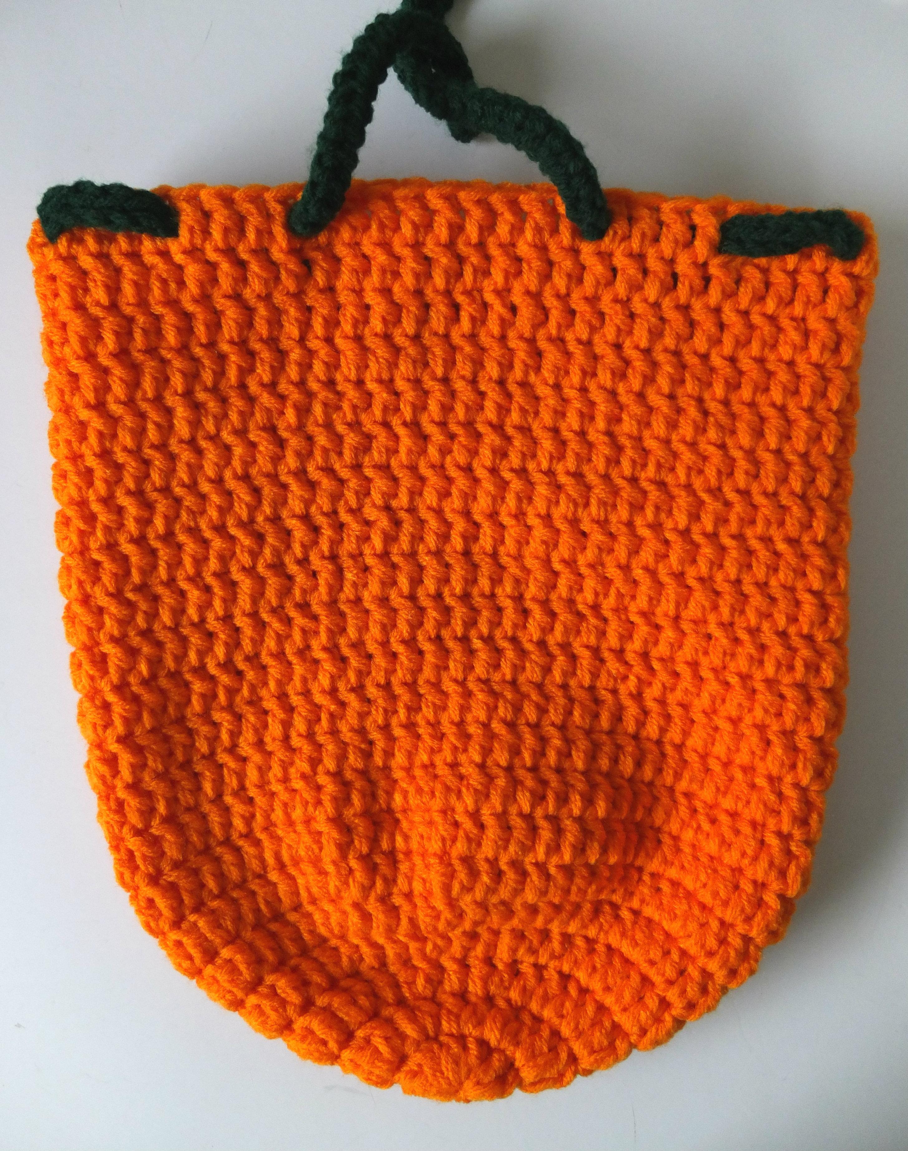 Pumpkin Drawstring Backpack
