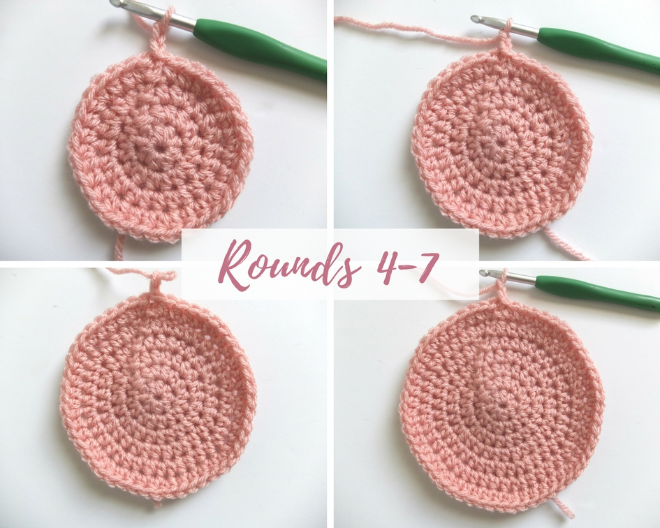 how to crochet in the round