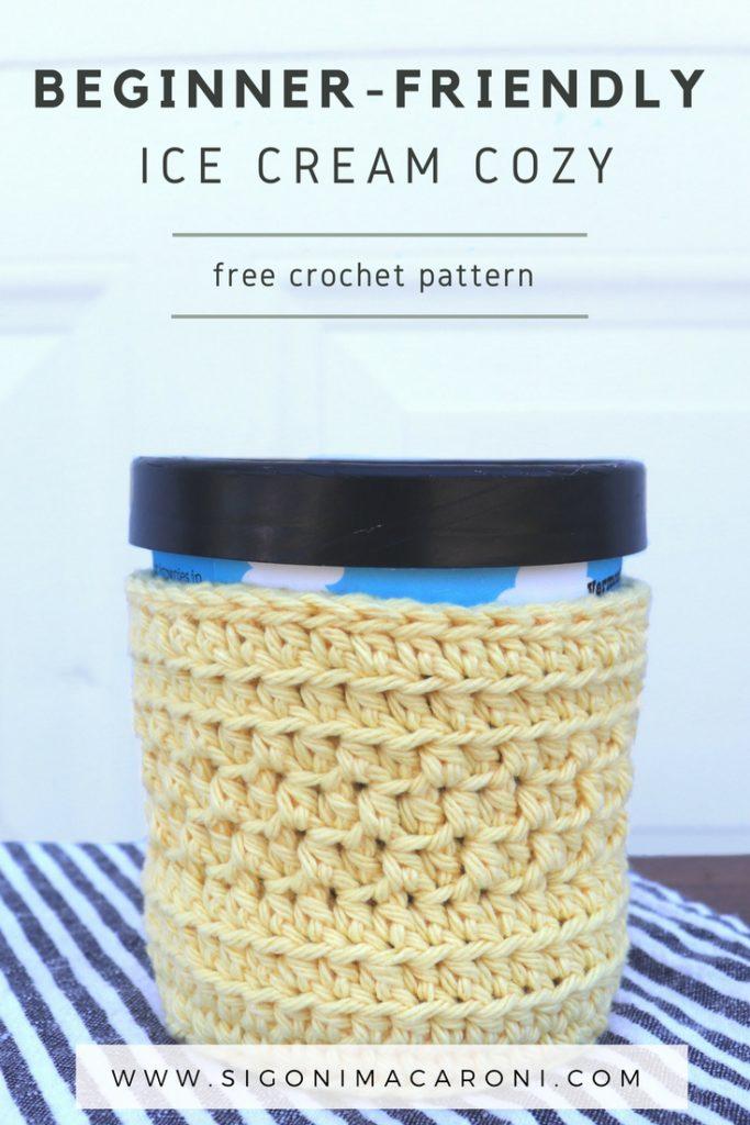 Beginner Friendly Ice Cream Cozy Crochet Pattern Sigoni Macaroni