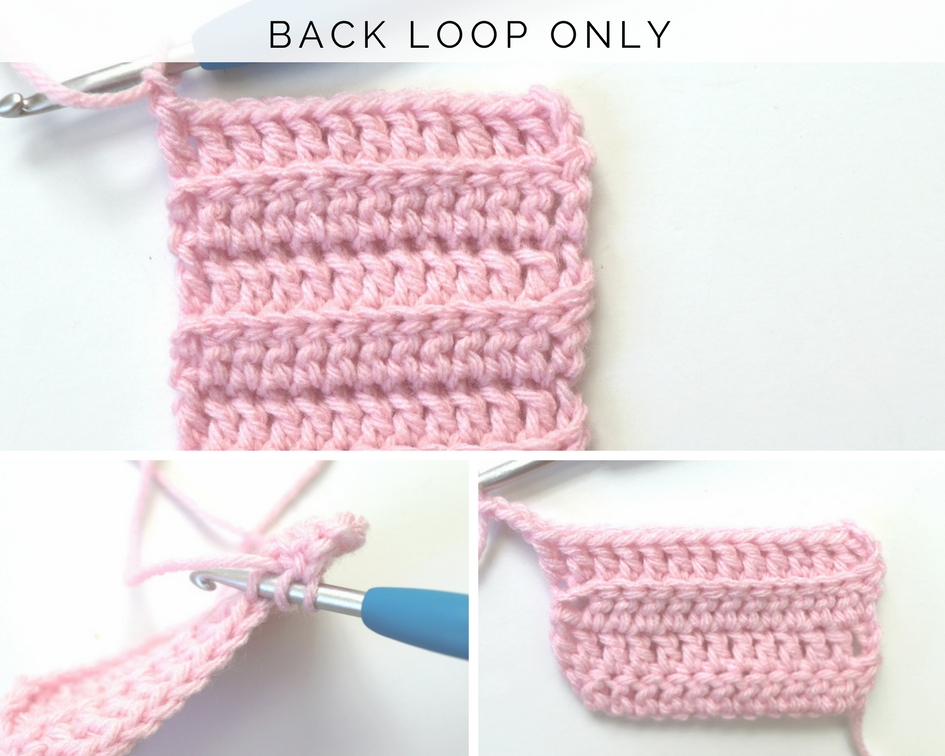 How to Crochet in the Front and Back Loops Only
