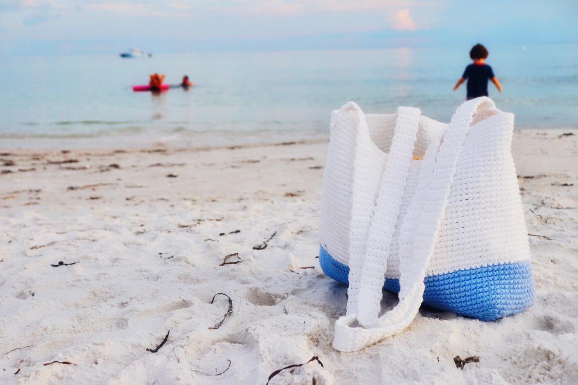 Colorblock Beach Bag Crochet Pattern