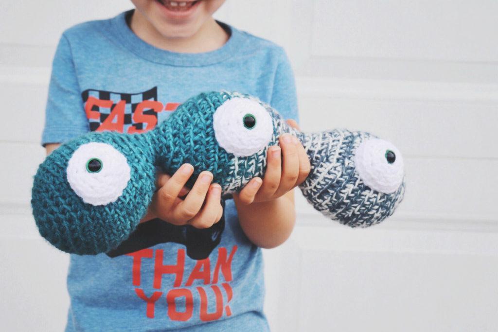 Little Monster Easter Egg Crochet Pattern - One Dog Woof | 683x1024