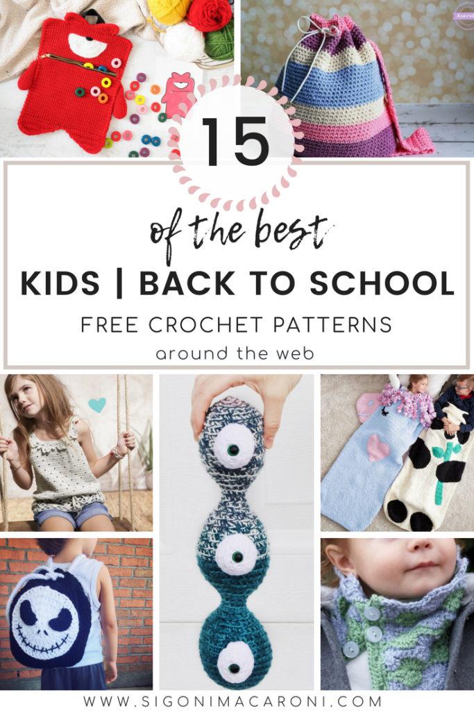 Kids Back To School Crochet Pattern Roundup