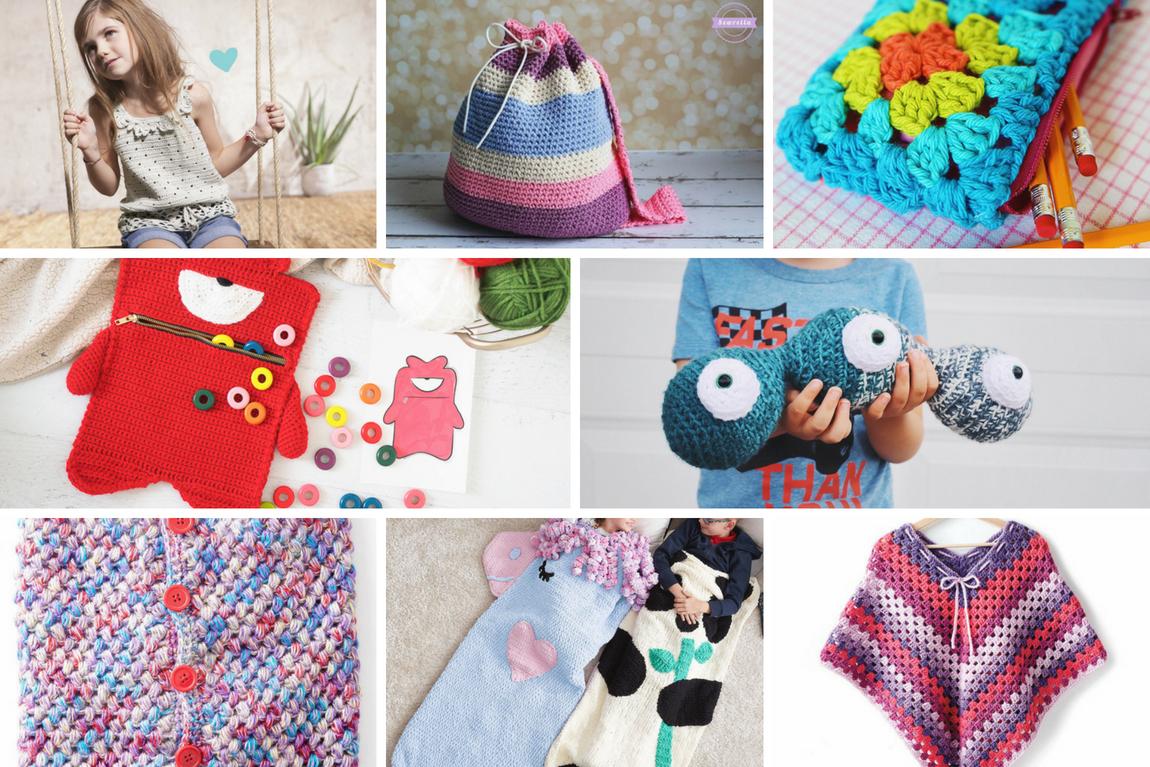 Kids | Back to School Crochet Pattern Roundup