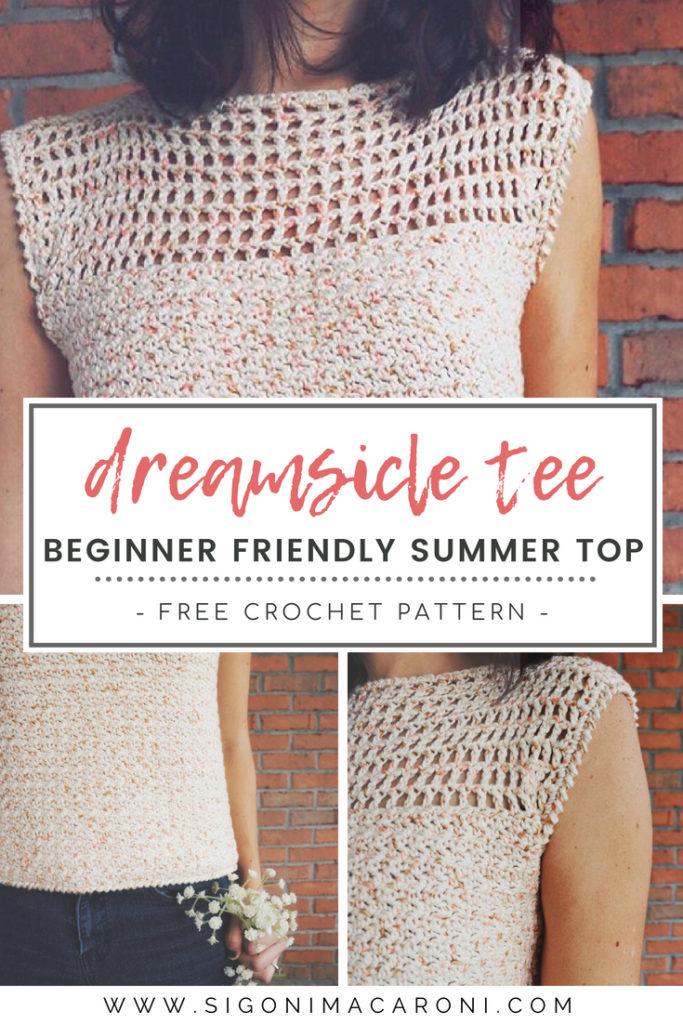 dreamsicle tee crochet pattern pinterest