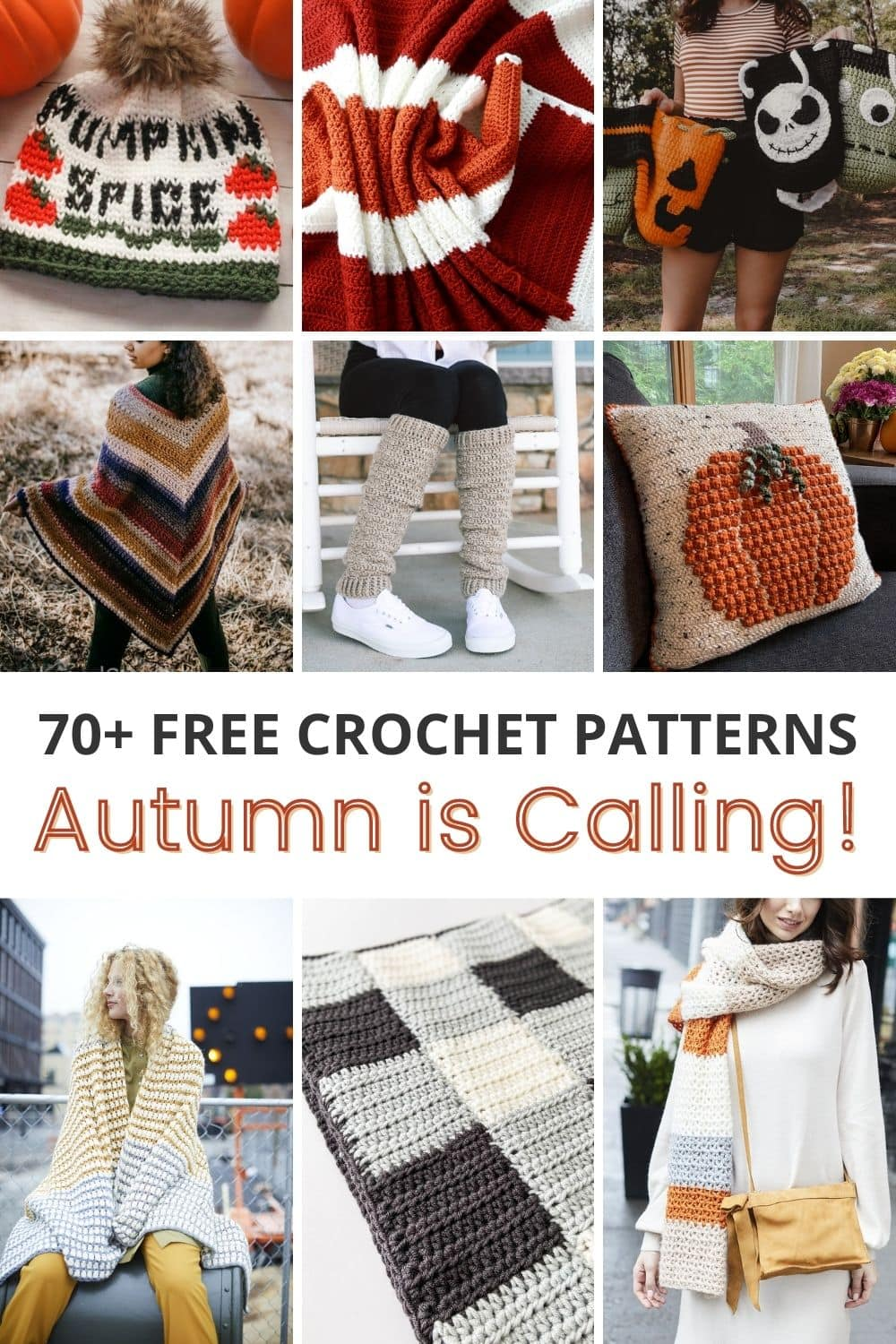 Autumn is Calling: 70+ FREE Fall Themed Crochet Patterns for 2021 via @sigonimacaronii