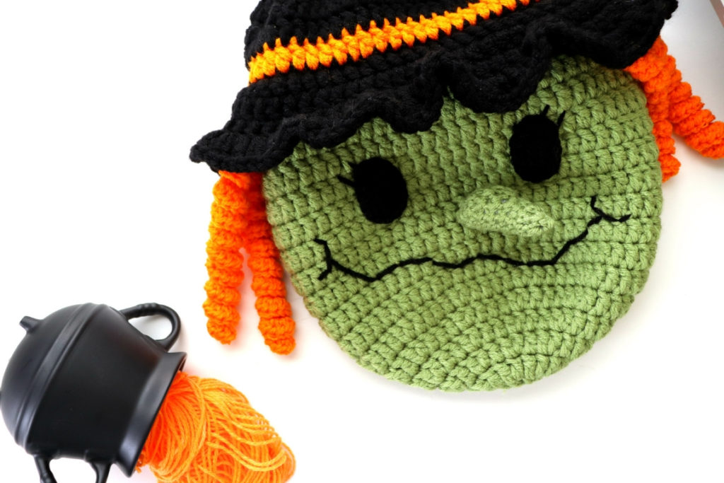 Halloween Witch Trick or Treat Bag Crochet Pattern