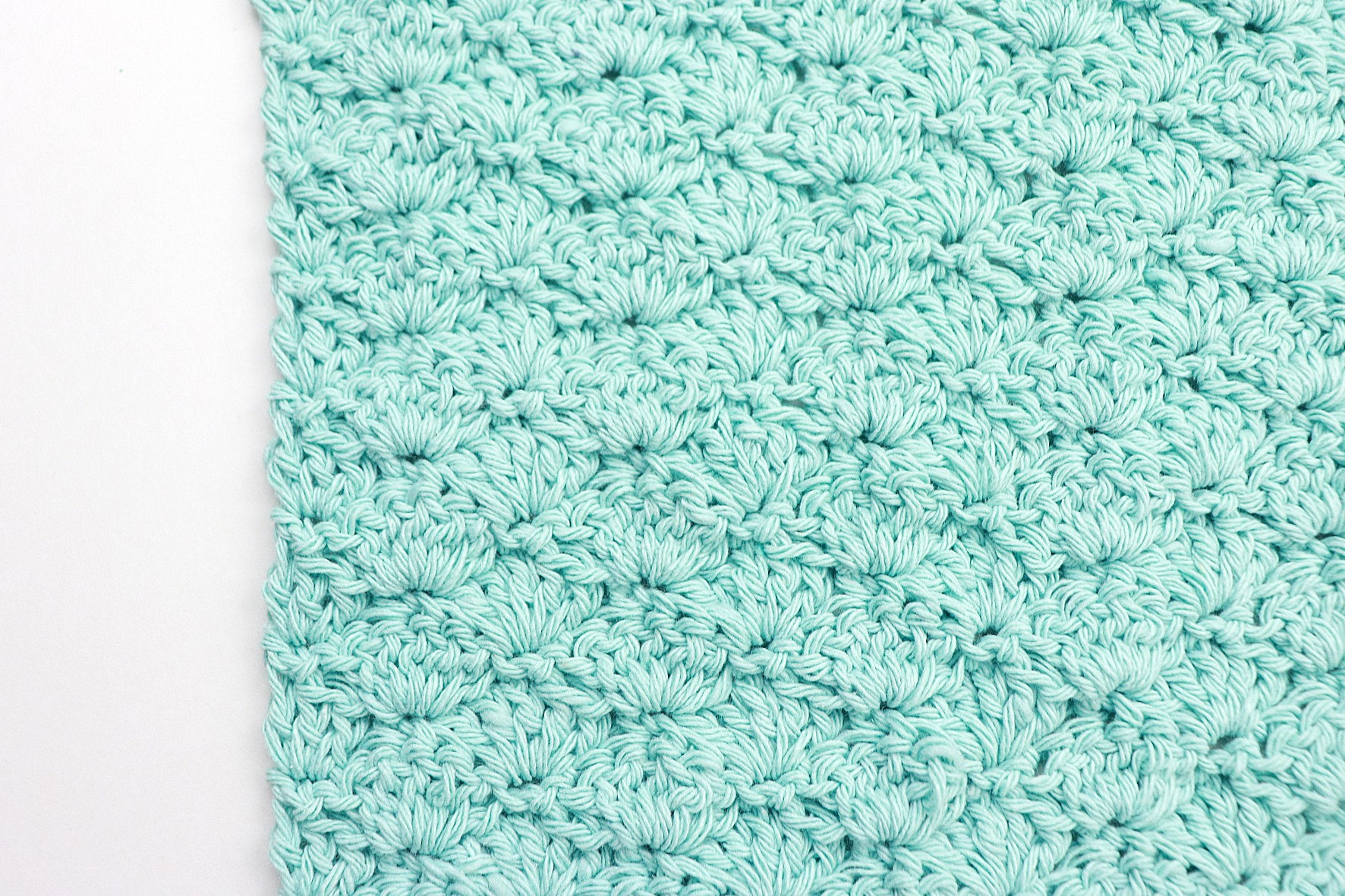 Basic Shell Stitch Washcloth Crochet Pattern For Beginners To Practice The Basic Stitches Sigoni Macaroni