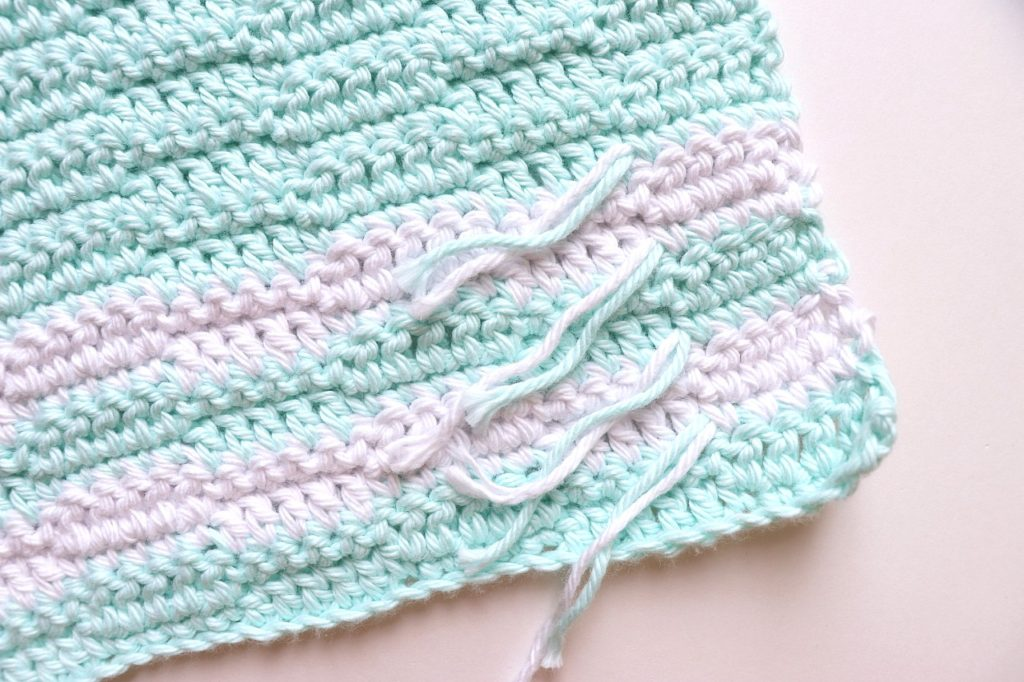 Checkered Colorblock Washcloth Crochet Pattern for Beginners