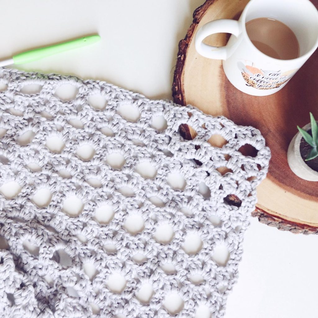 An Instagram photo, posted by Sigoni Macaroni, using a 6.5mm crochet hook and a lightweight yarn to create a beautiful drapey look.  - via Yarn Types Explained for Crochet Beginners How to Choose the Right Yarn