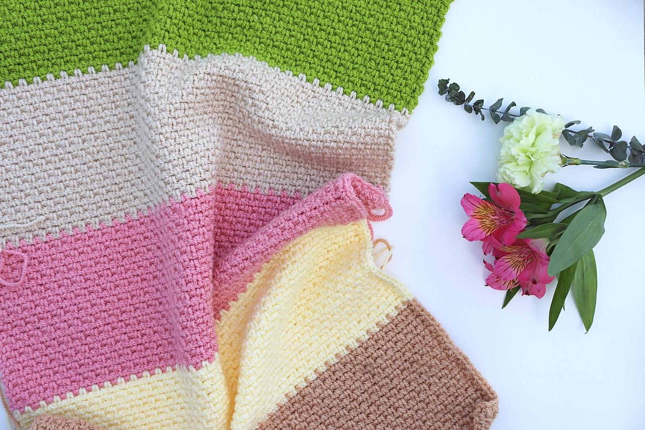 Spring Meadow Baby Blanket Crochet Pattern