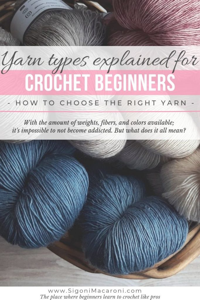 Yarn. The best part about crochet. With the amount of weights, fibers, and colors available; it's impossible to not become addicted. But what does it all mean? In this post, Yarn Types Explained for Crochet Beginners, you will learn how to choose the right yarn for crochet beginners & all yarn types will be explained.