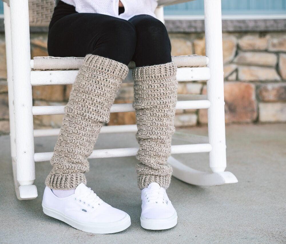 Slouchy Crochet Leg Warmers – One Skein Wonder