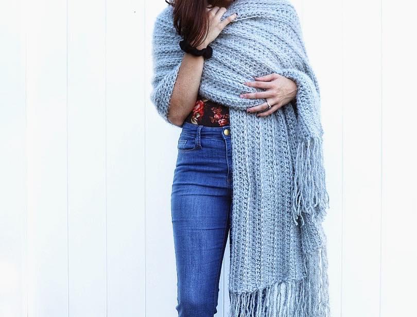 Cozy Hygge Blanket Wrap | Fast & Easy Crochet Pattern