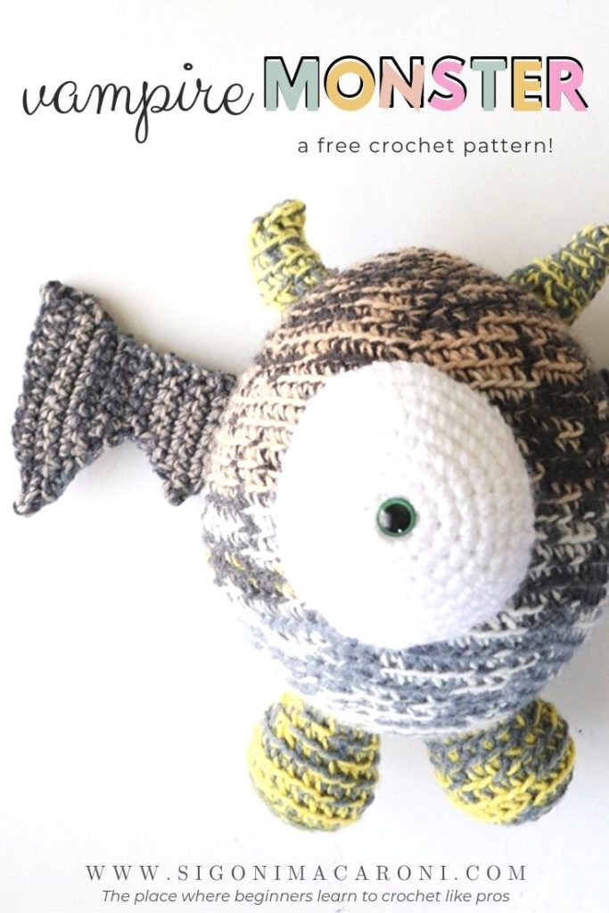 Unnamed Crochet Monster Pattern With Video | 1024x683
