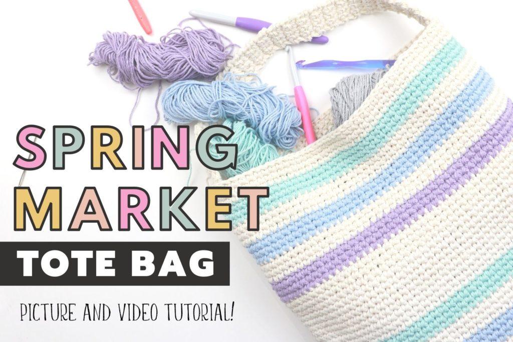 Spring Market Tote Bag Free Crochet Pattern With Video Tutorial Sigoni Macaroni