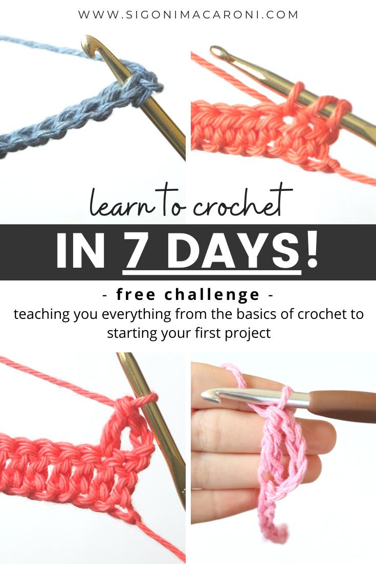 7-Day Learn to Crochet Challenge via @sigonimacaronii