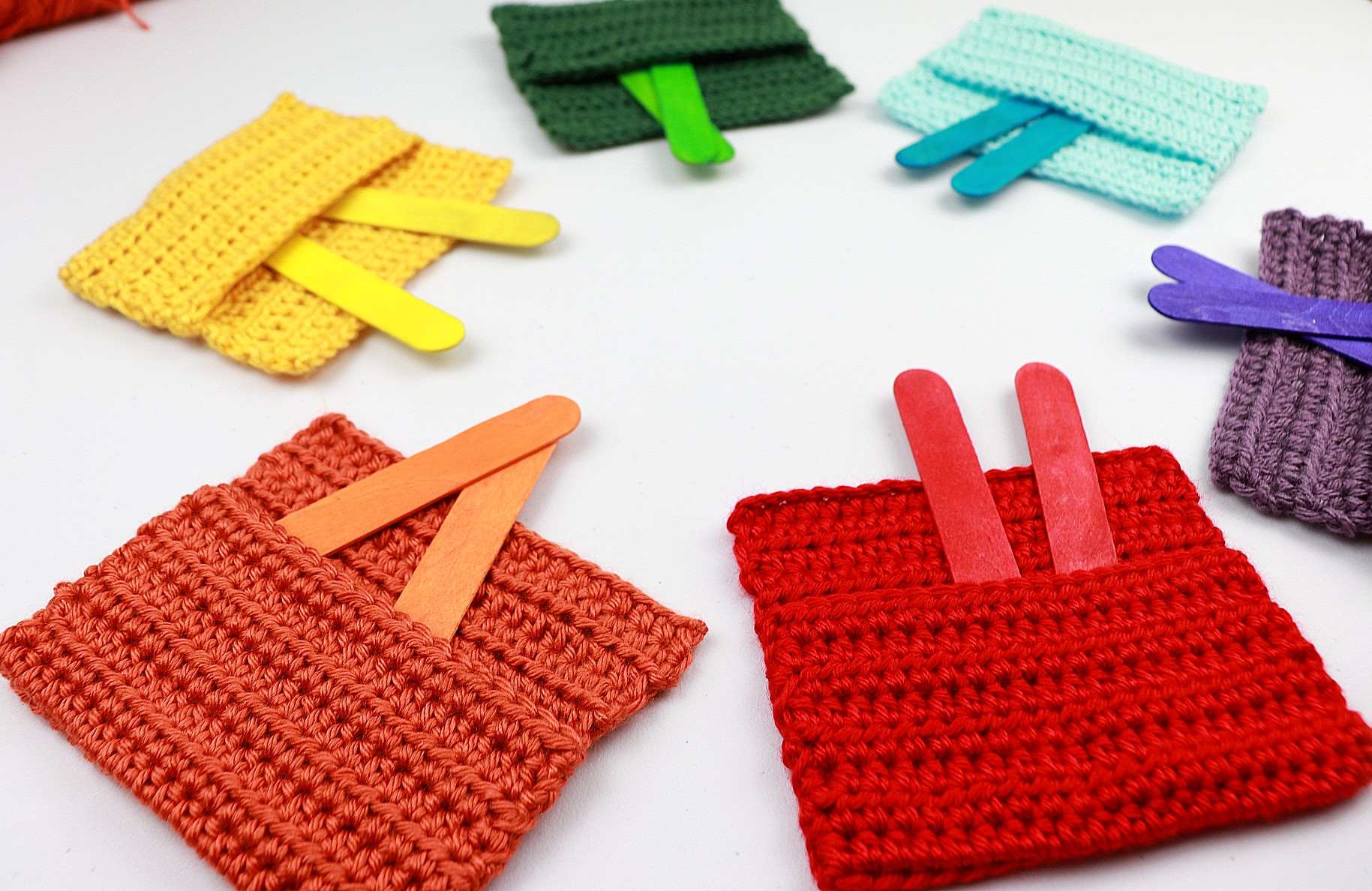 Quick Easy Crochet Toy For Baby   Crochet Color Pockets Free Pattern