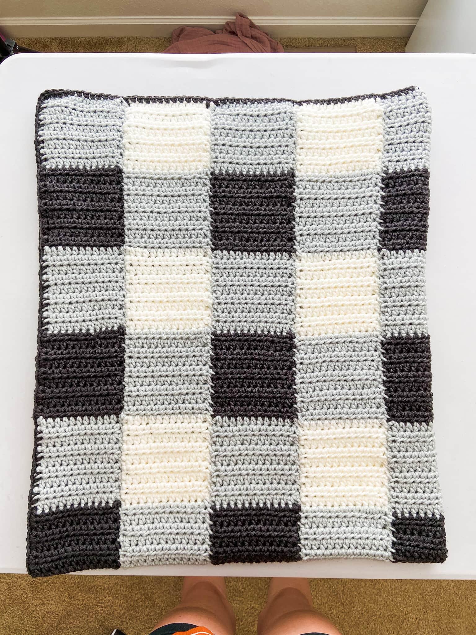 Cheaters Gingham Blanket Crochet Along – Week 4