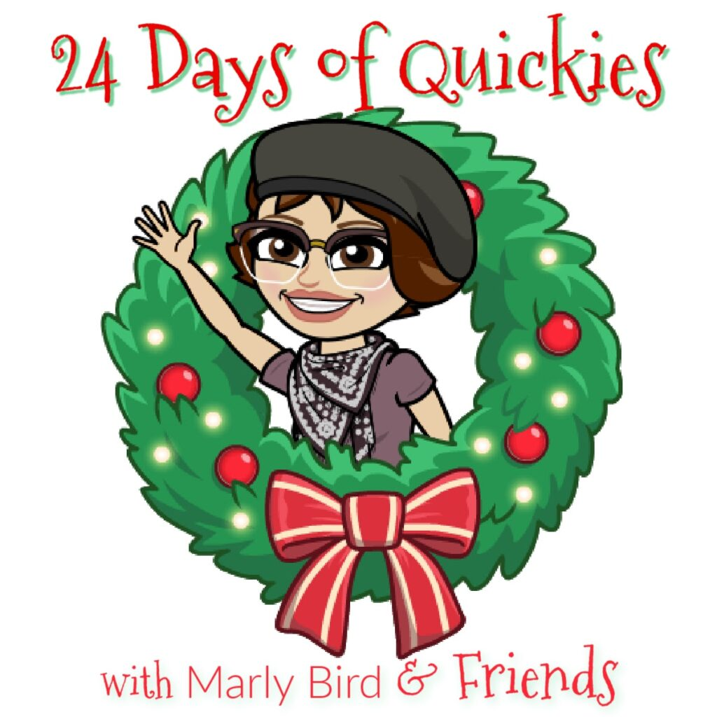 24 Days of Quickies with Marly Bird and Friends logo for event