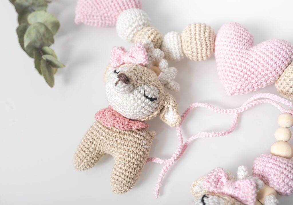 crochet baby toy teether