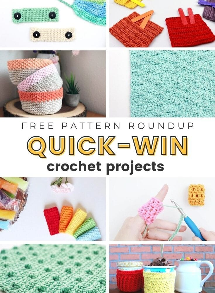 Small Quick Win Crochet Projects | FREE Pattern Roundup