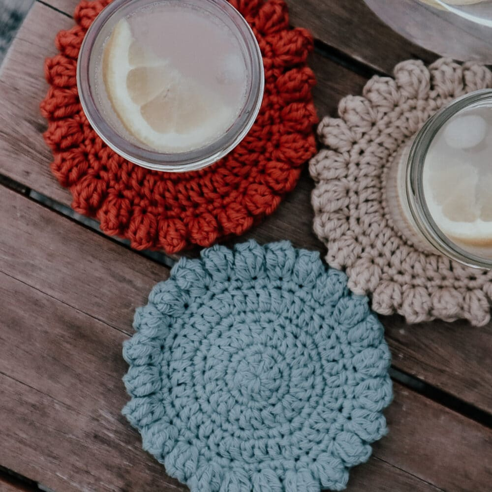 Super Simple Crochet Coaster for Beginners | Free Pattern